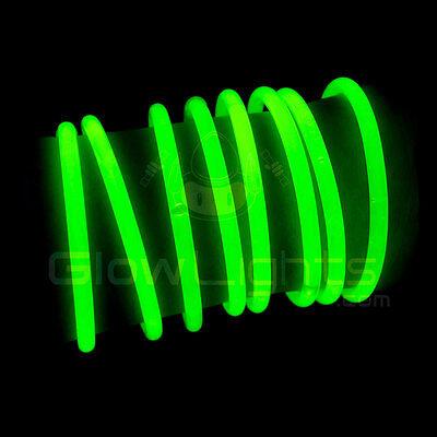 "(100) 8"" GLOW LIGHT STICKS BRACELETS - NEON GREEN - PREMIUM - GLO LITE PARTY"