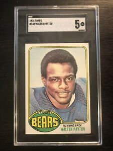 1976 Topps #148 Walter Payton SGC 5 Rookie Card RC! Legendary HOF Card