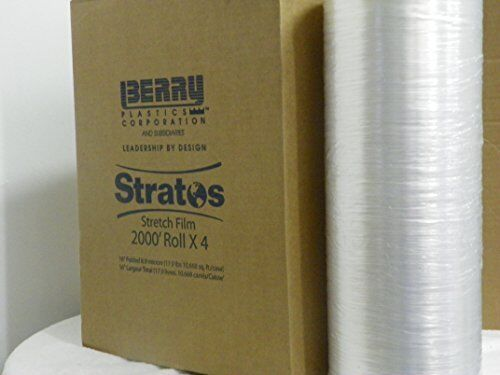 """Stretch Wrap Film 16/"""" by 2000/' 8.9 mil 35 500/' over competitors - US Made"""