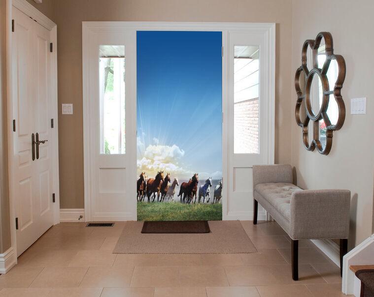 3D Grassland gallop 332 WallPaper Murals Wall Print Decal Wall Deco AJ WALLPAPER