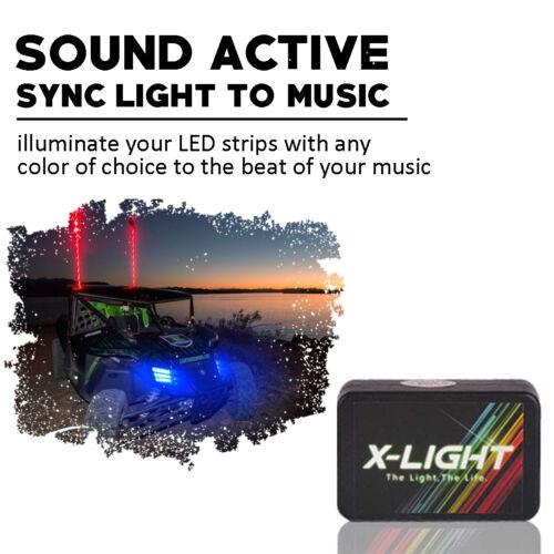10pc LED 18-Color Snowmobile UnderGlow Neon Lighting Kit For Polaris Music Mode