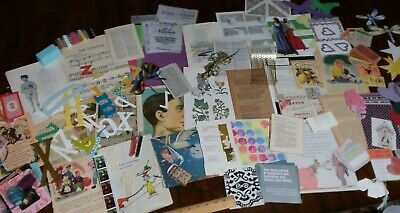 Vintage 1920s Children/'s Storybook Illustrations For Card Making 36 Colour Pieces Mixed Media Junk Journals
