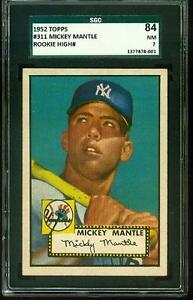 1952-Topps-MICKEY-MANTLE-Rookie-New-York-Yankees-SGC-7-CENTERED