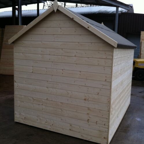 5x5 Apex Garden Shed T/&G Throughout Best Value Untreated Hut Windowless 14mm