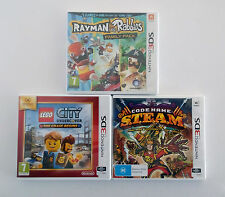 Nintendo 3DS Video Games Bundle Lego City Undercover Code Name S.T.E.A.M. Rayman