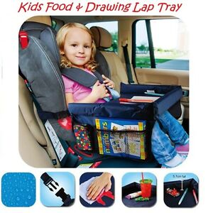 2x Kids Food Tray Drawing Activity Lap Play Colouring Car Seat Clips ...