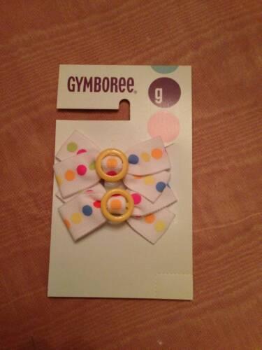NWT Gymboree Bubble Fun Polka Dot Bow Barrettes 2 Pack