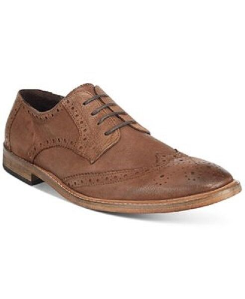 Scarpe casual da uomo  $299 KENNETH COLE REACTION uomos BROWN LEATHER WINGTIP TOE OXFORD SHOES SIZE 7