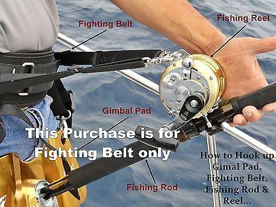 Pêche Rod Holder Fighting Belt Gimbal Pad Ceinture Big Game Fishing