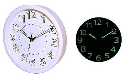 Fluoresszierende Quarzuhr Uhr Wanduhr Leuchtet In Dunkeln Analog Batteriebetrieb