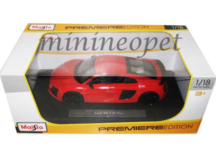 MAISTO 36213 36213 36213 AUDI R8 V10 PLUS 1 18 DIECAST MODEL CAR orange RED c82e12
