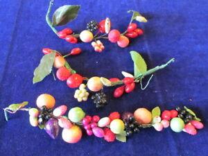 Vintage-Millinery-Flower-Fruit-Garland-Collection-Slightly-Shabby-Japan-H2637