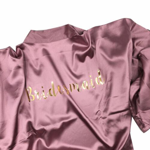 2019 Bridal Robe Women Satin Silk Wedding Bride Robe Bridesmaid Robes Gown UK