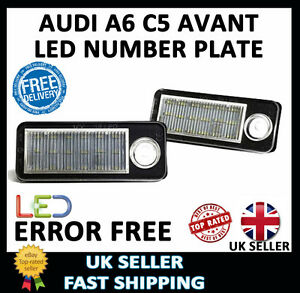 AUDI A6 C5 ESATE AVANT UPGRADE WHITE LED NUMBER LICENSE PLATE LIGHT UNITS LAMPS