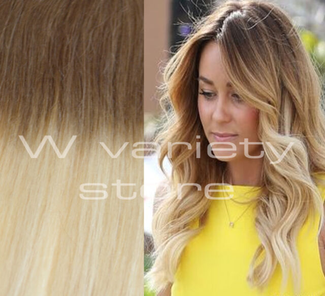 24 Thick Dip Dye 6613 Balayage Ombre Clip In Remy Human Hair