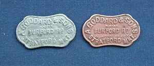 Two Vintage A Goddards & Sons, Stratford Market Metal Tokens C1950s - 5/- to 1/-