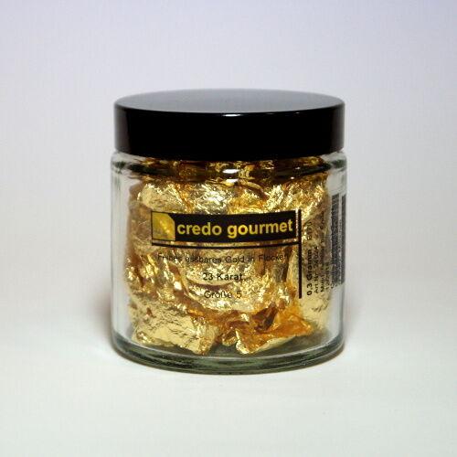 23 quilates-tamaño 5 Blattgoldflocken-hacerlos hoja Gold-goldflocken-schabin