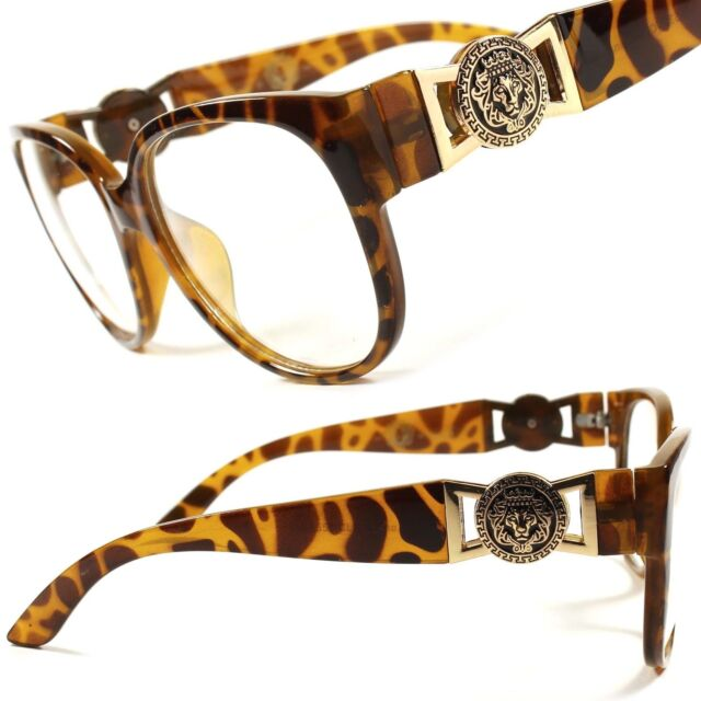Designer Fashion Stylish Cool Mens Womens Clear Lens Glasses Tortoise Frame F63