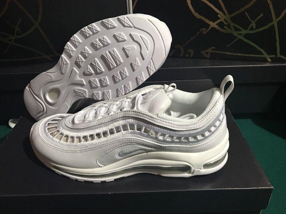 Nike Air Max Max Max 97 Ultra S Breathe Vents White Vast Grey Womens Sz 9.5 AO2326 100 a8778d
