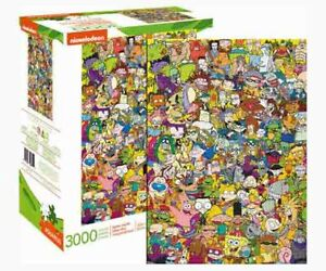 Nickelodeon 90s 3,000-Piece Jigsaw Puzzle of Favorite Characters FACTORY SEALED