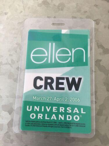 2006 Universal Orlando Event Pass Ellen
