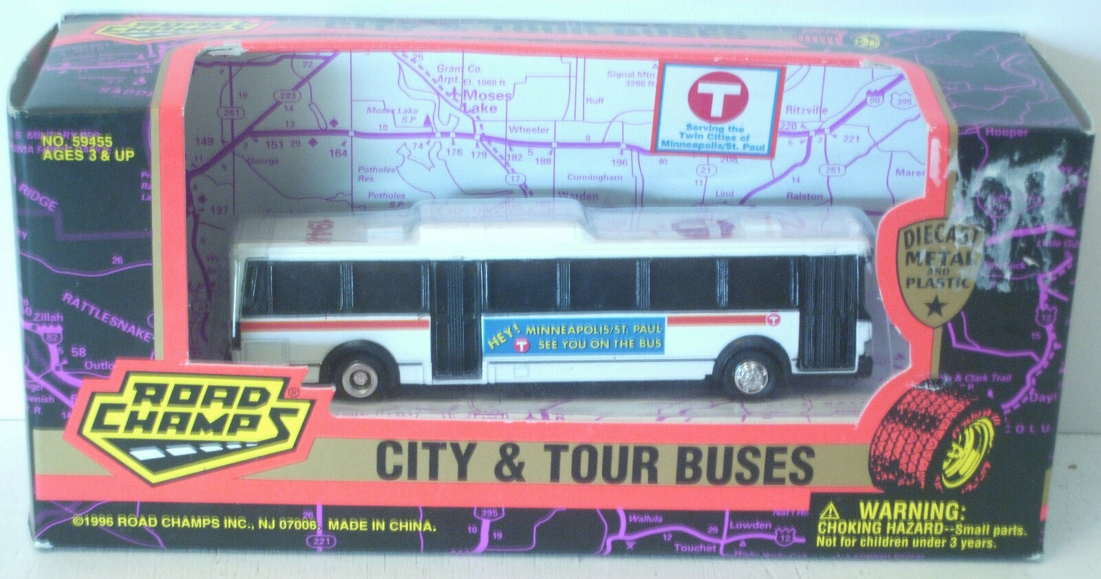 Road Champs Minneapolis St Paul City Bus 5   NEW in Box 59455
