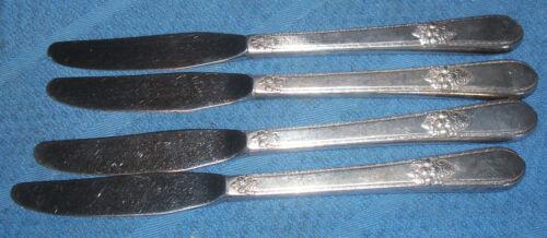 "Set of 4 Vintage /"" Adoration /"" Luncheon Grille Place Knives 1847 Roger/'s"