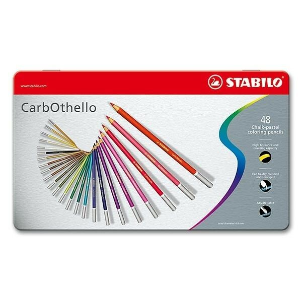 Stabilo crayon CarbOthello - 48 couleurs au metalletui holzgefasster fusain crayon Stabilo 2d809a