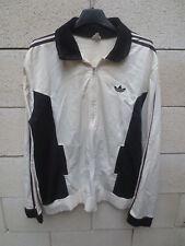 VINTAGE Veste ADIDAS 70's crême noir jacke giacca sport VENTEX made in France L