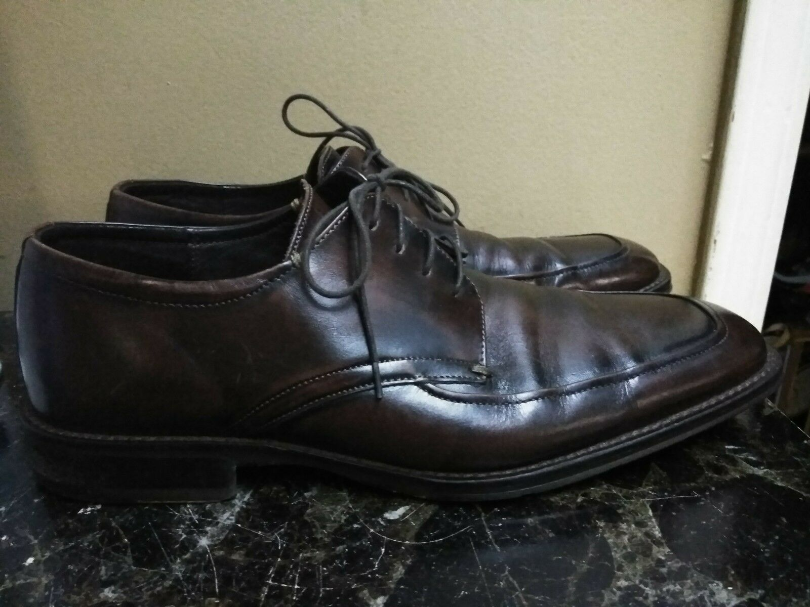 Johnston & Murphy Brown Oxford Dress shoes Mens Size 12M