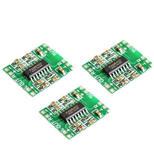 10PCS 2 Channels 3W Digital power PAM8403 Class D Audio Amplifier Board USB DC