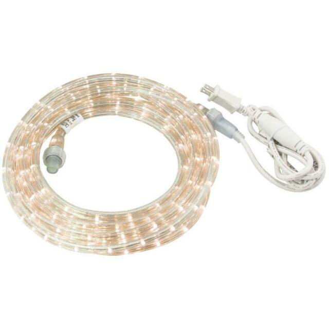Clear Incandescent Rope Light Kit Commercial Electric 48 ft