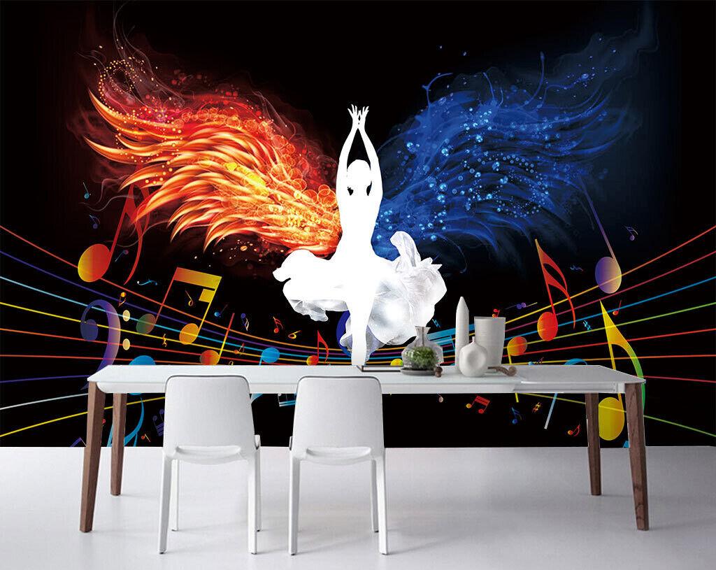 3D Tänzerin Kunst M185 Tapete Wandbild Selbstklebend Abnehmbare Aufkleber Amy