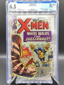 X-Men #13 (Marvel Comics 1965) 💥 CGC 6.5💥 2nd App of JUGGERNAUT!!!