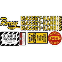 Pony Massey Harris Tractor Pony Complete Decal Set High Quality Hood Decals