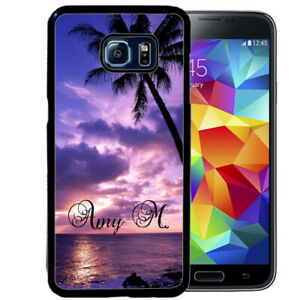 Personalized-Case-Fits-Samsung-Galaxy-S10-S9-S8-S7-Plus-Beach-Sunset