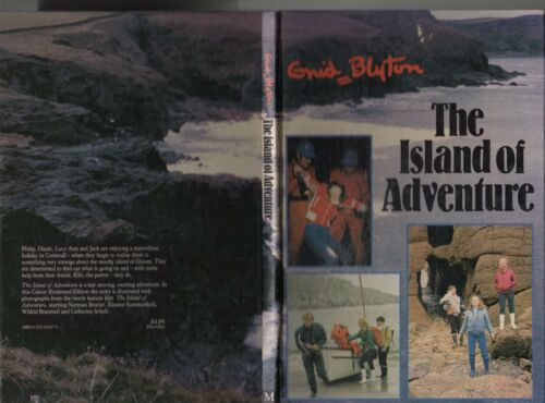 Vintage 1982 ENID BLYTON THE ISLAND OF ADVENTURE Large COLOR ILLUSTRATED EDITION