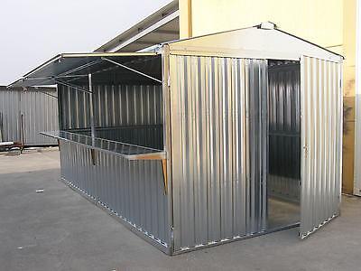 BOX LAMIERA STAND GAZEBO MT. 5,07x2,60x2,11 h. USO FIERA CUCINA BAR CHIOSCHI