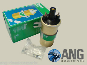 JAGUAR-E-TYPE-MkX-420G-XJ6-6-CYL-LUCAS-12v-GOLD-SPORTS-IGNITION-COIL-DLB105