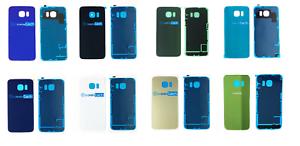 Remplacement-Samsung-Galaxy-S6-amp-S6-Bord-Arriere-Arriere-Verre-Couvercle-De-Batterie-Adhesif