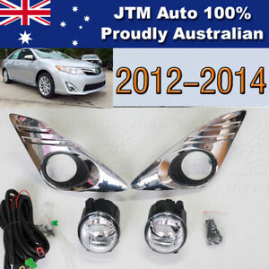 Driving/Fog Light Lamps Complete Kit Chrome Cover To Suit Toyota Camry 2012-2014