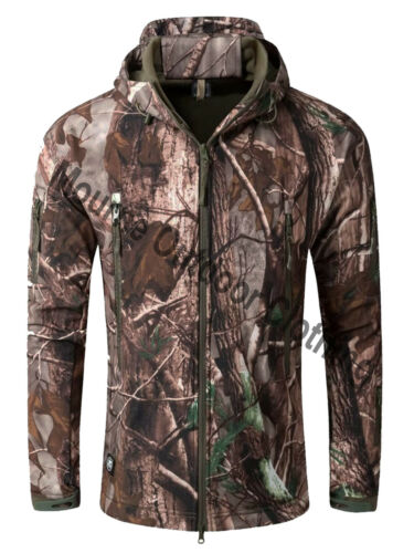 Camouflage Waterproof Hunting Shark Skin Softshell Jacket Shooting Coat Camo