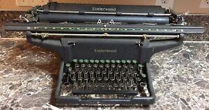 Underwood-034-Champion-034-Model-S-Vintage-Typewriter-1940-Rare-Tested-amp-Works-19-034-Crg