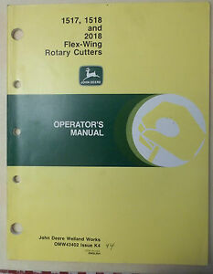 Image Is Loading John Deere Operator 039 S Manual Rotary Cutter