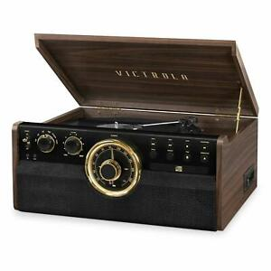 Victrola-6-in-1-Wood-Bluetooth-Record-Player-with-CD-Cassette-amp-Radio-VTA-270B