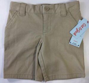 ea319b116b2 Girls Khaki Chino Bermuda Shorts School Uniform Pant Flat Front Cat ...