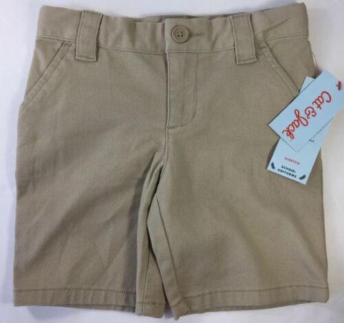 Girls Khaki Chino Bermuda Shorts School Uniform Pants Flat Front Cat Jack sz 6