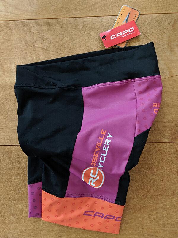 CAPO, nuevo con etiquetas, pantalones cortos de ciclismo para  mujer, Talla XL  100% autentico