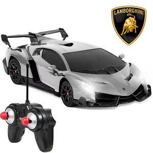 BCP 1/24 Kids RC Lamborghini Veneno Racing Car Toy w/ Lights, Shock Suspension