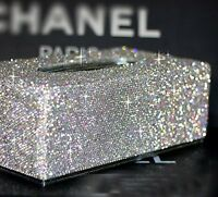 Bling Luxury Crystal Handmade Diamond Glitter Home Decorative Tissue Holder Box